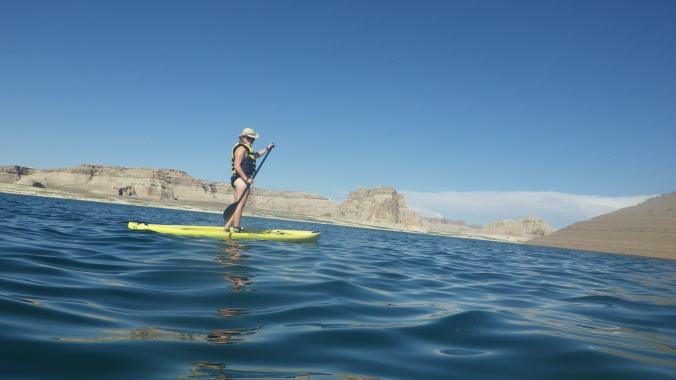 paddle boarding Lake Powell