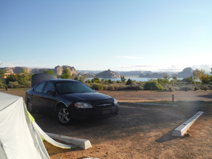 our campsite...not a bad view to wake up to.